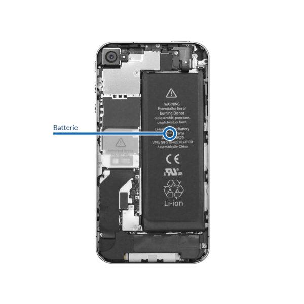 battery 4 600x600 - Remplacement batterie pour iPhone 4