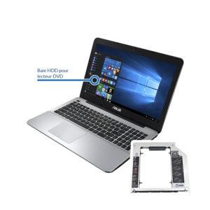bay asus 300x300 - Remplacement du lecteur DVD par un disque dur HDD ou SSD
