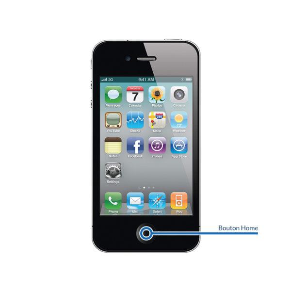 home 4 600x600 - Réparation bouton Home pour iPhone 4