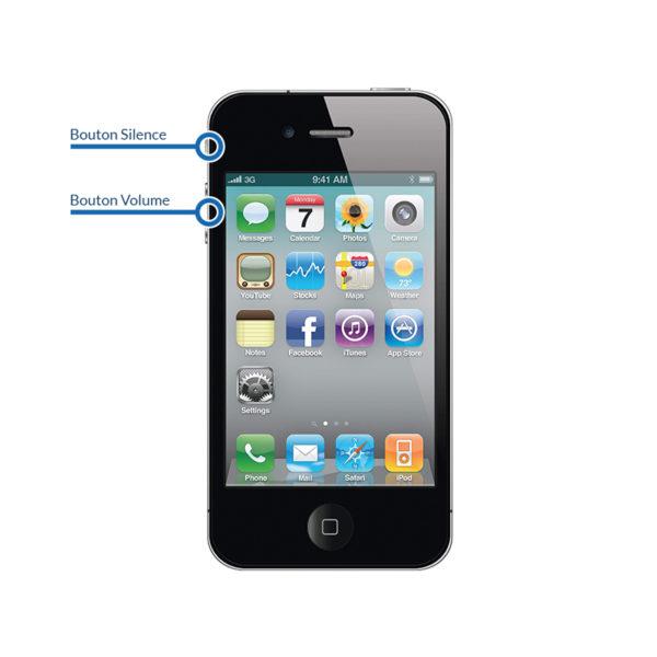 volume 4 600x600 - Réparation bouton Volume - Silence pour iPhone 4