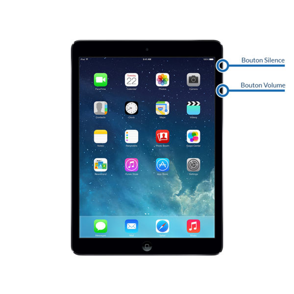 volume ipadair1 600x600 - Réparation bouton Volume/Silence pour iPad Air