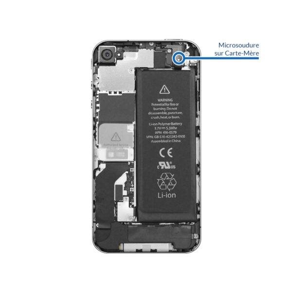 welding 4 600x600 - Soudure connecteur de batterie pour iPhone 4